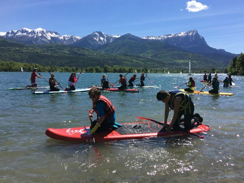 paddle pour groupes avec initiation Savines Embrun